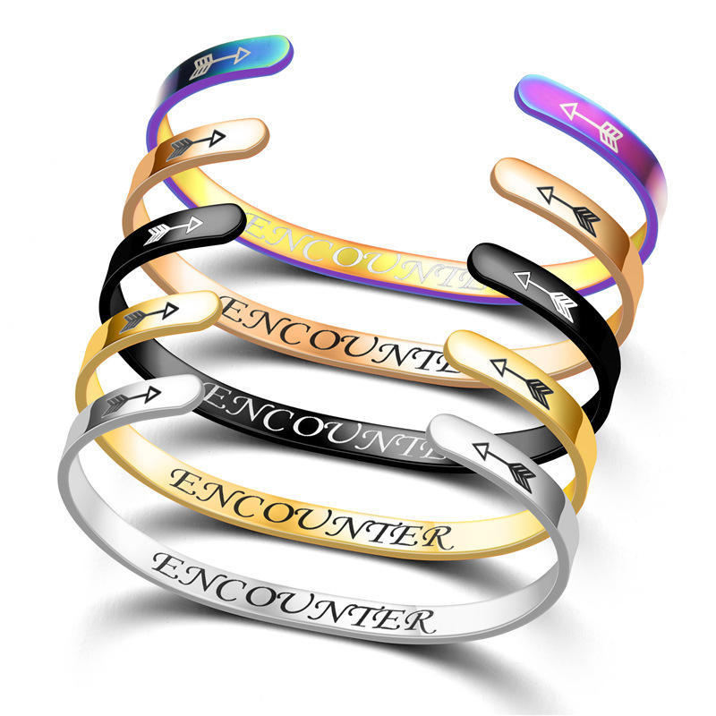 Best-selling Fashion Bangle Personalized Customized Bracelets Stainless Steel Cuff bracelets Jewelry