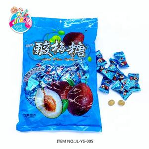 Chinese Snack Hard Candy Wholesale Delicious Sweet Sugar Coated Sour Plum Hard Candy