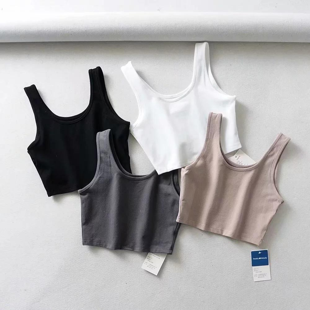 Fashion Clothing Women Summer Tank Short Vest Singlet For Running Tank Tops Woman