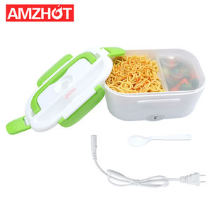 B10-0850 Hot Sale Plastic Bento Electric Heated 110V/220V Home use Lunch Box with Spoon and Fork