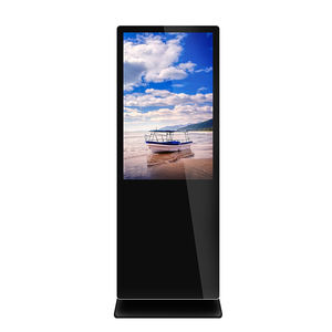 43 inch floor stand lcd display touch screen android advertising tv information totem retail indoor digital signage
