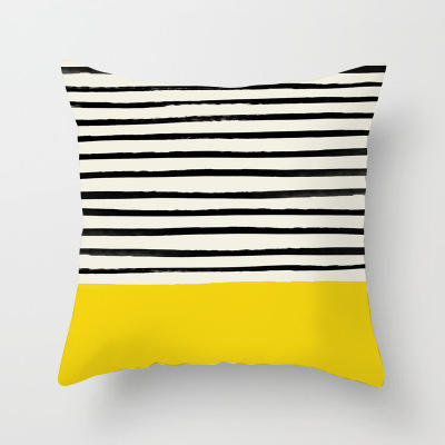 Zebra Line Yellow Bottom Peach Skin Pillow, Pillowcase Car Cushion 2019 New Fashion /