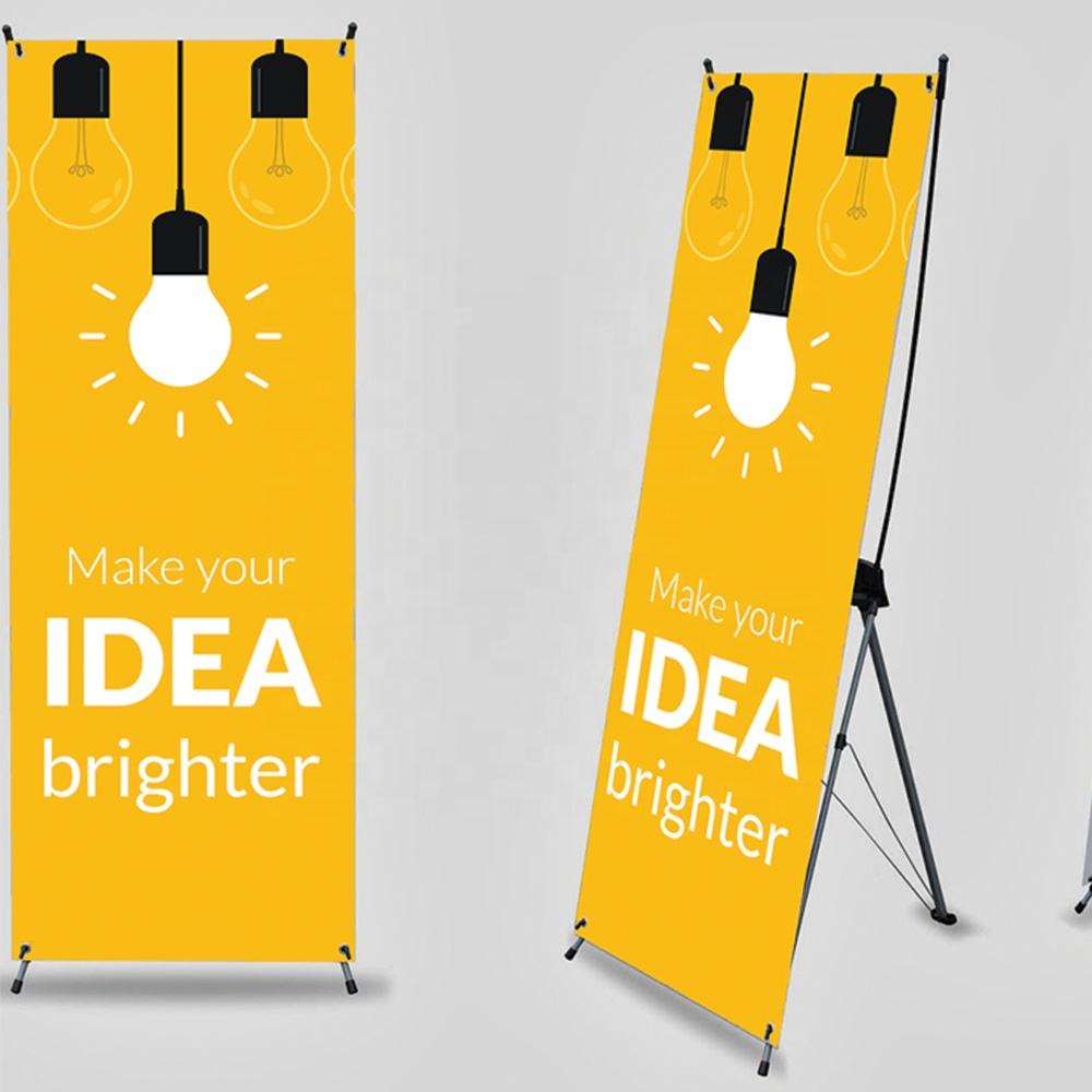 Customized 60 x 160 cm or 80 x 180 cm stand banner x banner display for exhibition