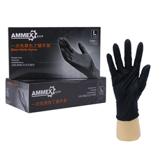 Hand Gloves Nitrile Black Palm Hot Selling Fingertips Disposable Protection Safety Industrial Gloves