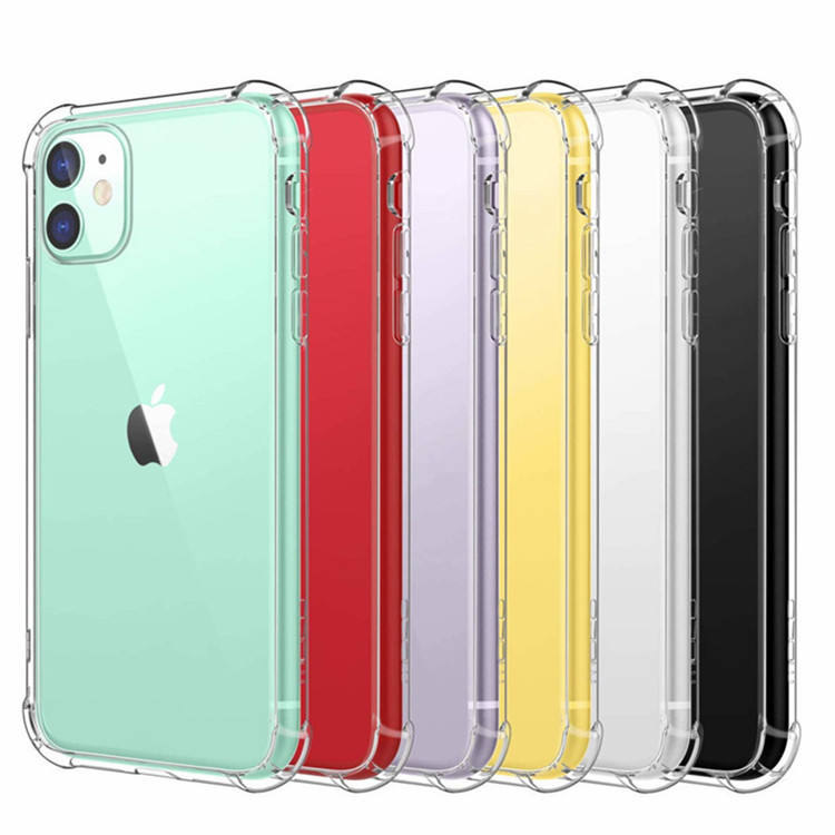 2020 Stock Amazon 1MM Shockproof Air Cushion Soft TPU Back Cover For Iphone 11 Pro Case,For Iphone 12 case