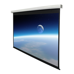 Electric projector screen movie theater screen roll up projection screen 4k fabric 100inch