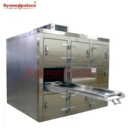 Reliable quality funeral room dead body refrigerator coffin three bodies freezer fridge mortuary cot