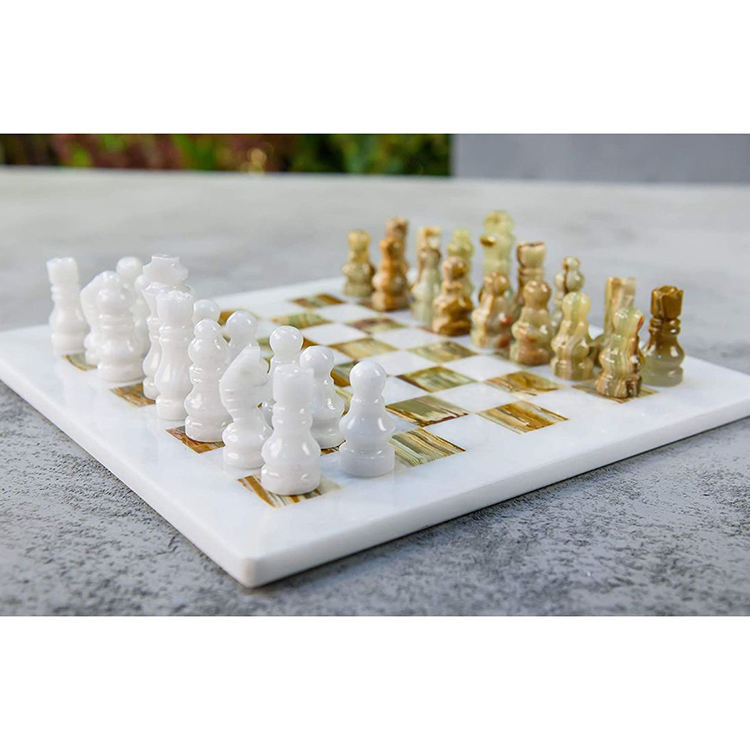 High Quality New Individual Design High-End Board Wizard's Steeplechase Marble Tiles Chess