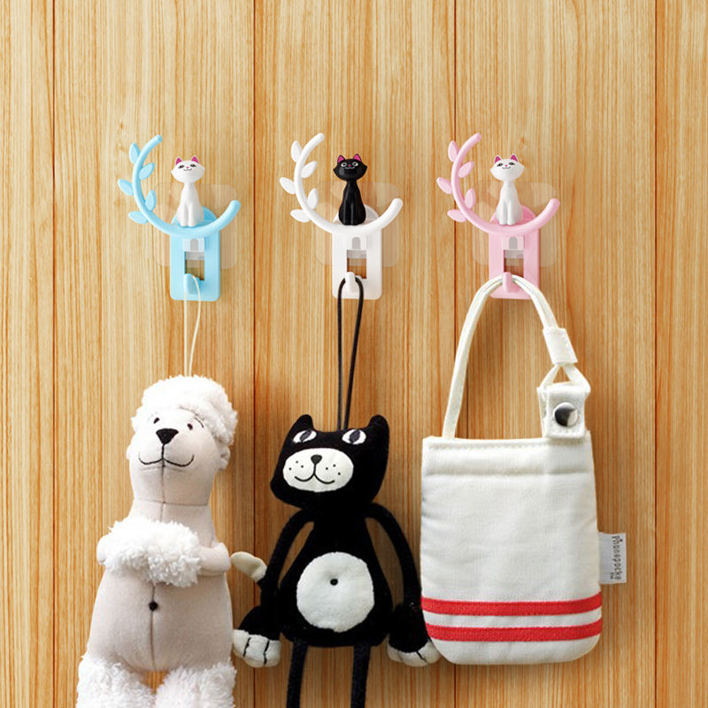 wall mounted super cute Cat hand hooks coat hanger product