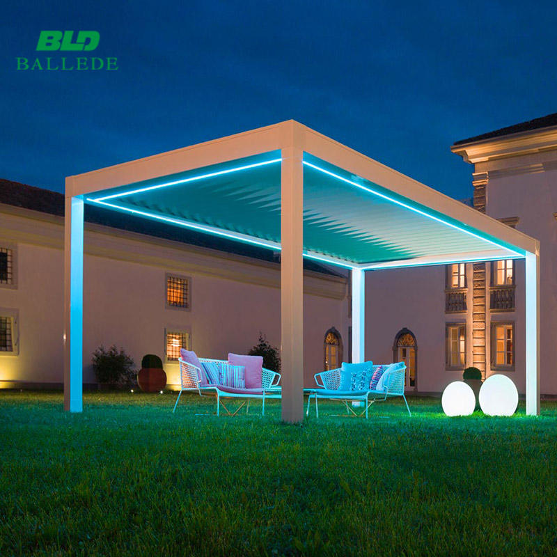 Shanghai Motorised gazebo pergola modern outdoor patio garden furniture sets