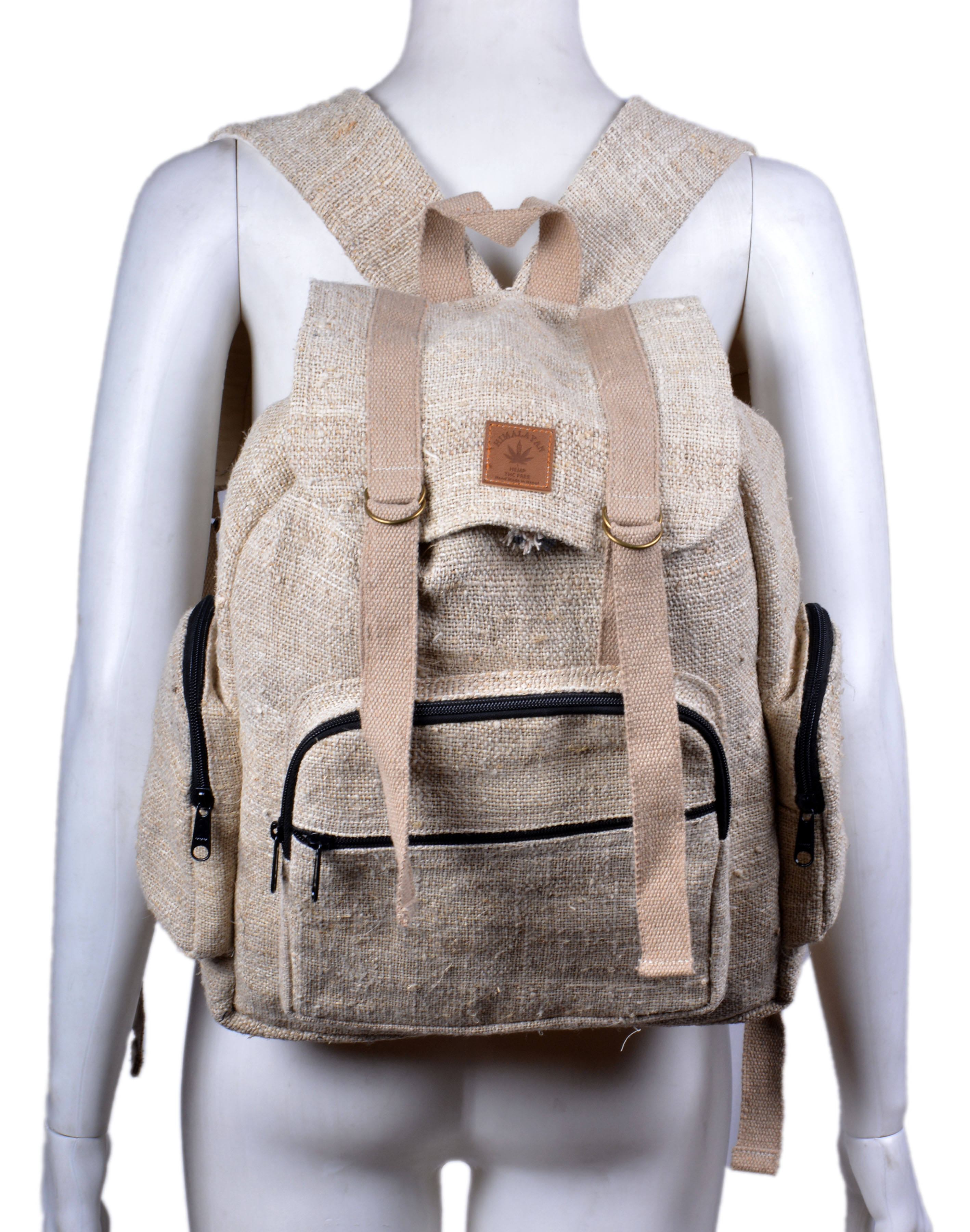 Hemp Lightweight BackPack for Men Casual Backpack Trendy Fashionable Backpack Ecofriendly Natural Custom Logo Rucksack HBBH 0113