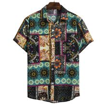 Hot Sale Summer Latest Design Eco Friendly Short Sleeve Printed Casual Hawaii Mens Shirt