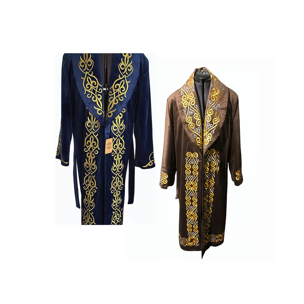 Soft Fabric Chapan Customized Color Men Long Overcoat