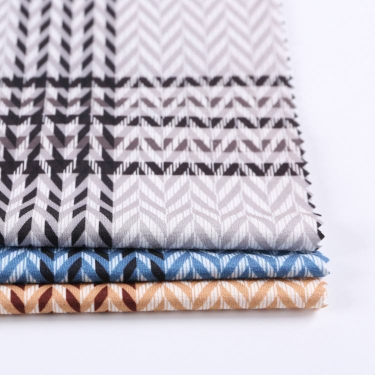 High performance 95 polyester 5 spandex stripe shaoxing textile print on fabric service for dress