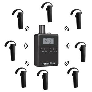 Richitek 20 hours battery two way radio walkie talkie chargeable wireless bluetooth tour guide system for Haji Umrah