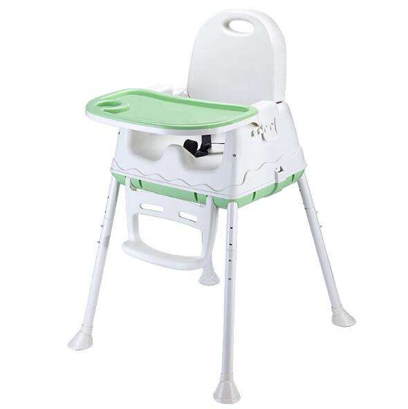 2020 Factory Price Folding 3 in 1 Plastic Feeding Dining Baby Highchair Without Cushion Booster