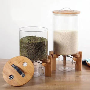 Home Essentials Beyond Mason Jar COFFEE BEAN FOOD dispenser, glass jar dispenser
