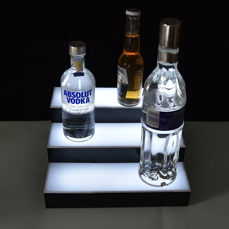 OEM Acrylic 3 tier Wine Bottle Stopper Display Rack bottle display stand