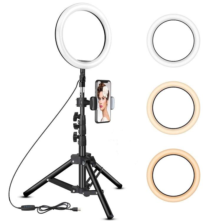 Portable Studio Green Screen with Lights Kit LED Ring 3 Color For Live Streaming Beauty Selfies