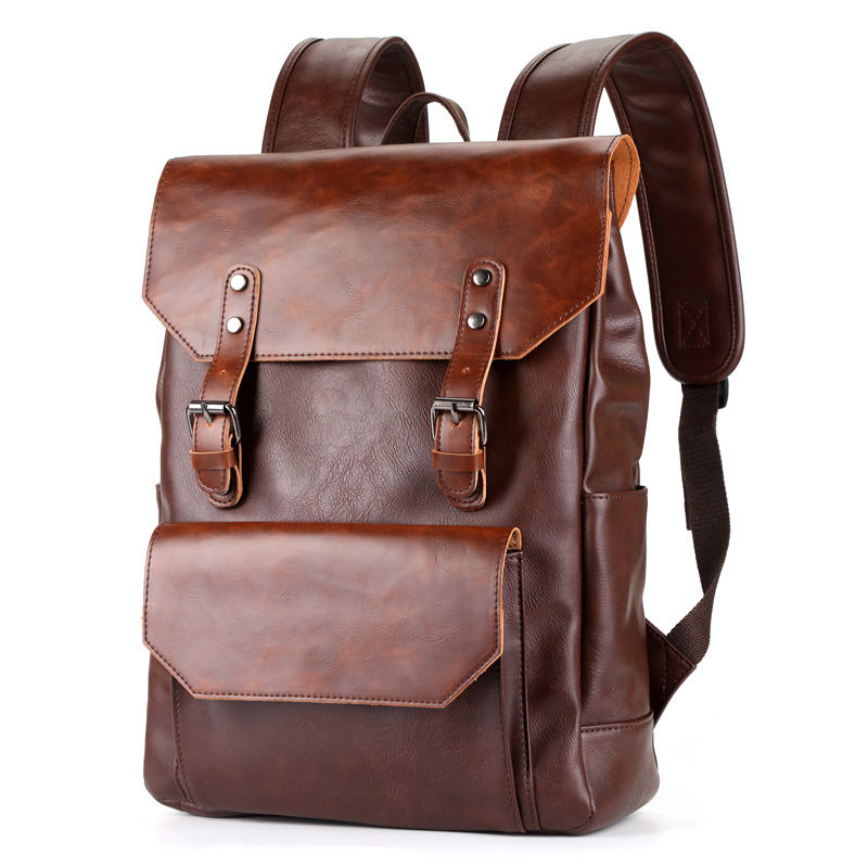 Leather Laptop Backpack, 2020 Newest Design Fashion Europe Style Backpacks Bag for Man and Woman
