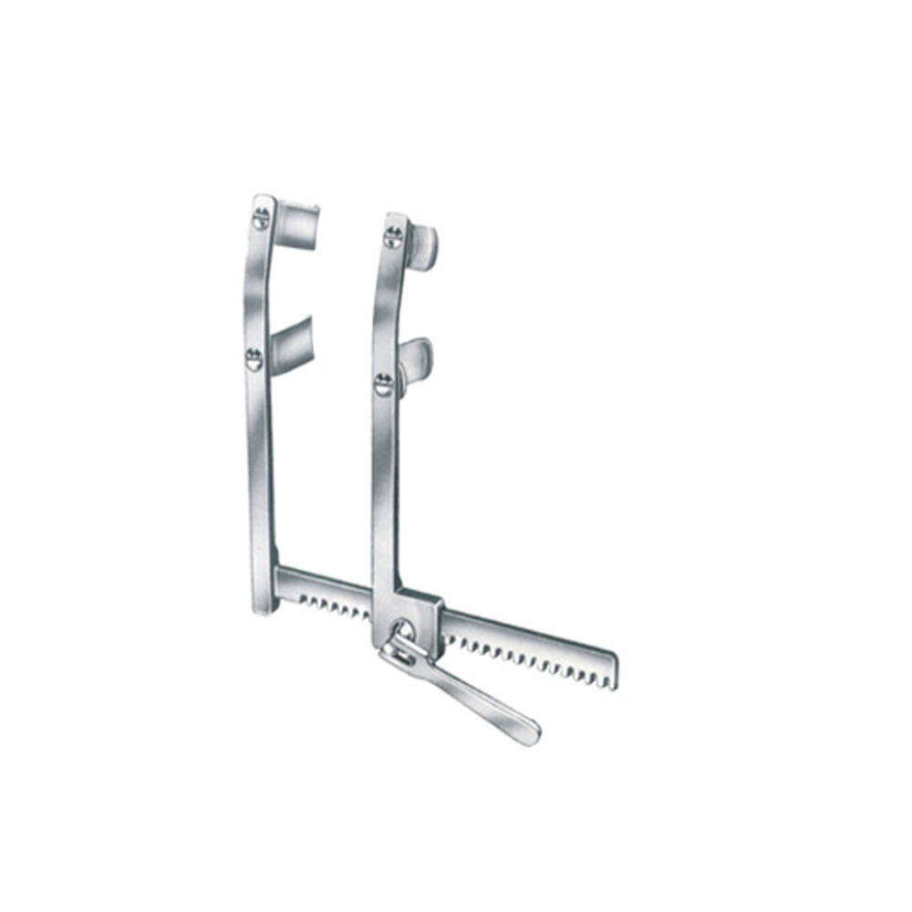 FAVALORO-MORSE Sternal Retractor Bent With Moveable Double Blades Cardiovascular Surgical Instruments Quality Stainless Steel