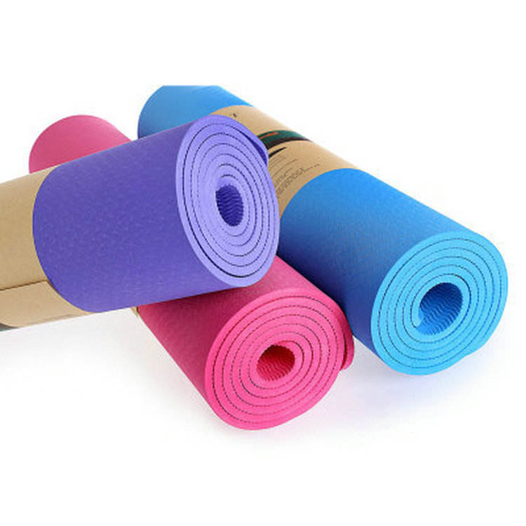 Eco-Friendly Waterproof Customized Single Color TPE High Density Yoga Mat