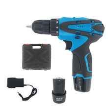Cordless Power Drill Kit, double 12V Max Impact Hammer Drill Set w/ Lithium-Ion Battery, Fast Charger Cordless Drill/Driver