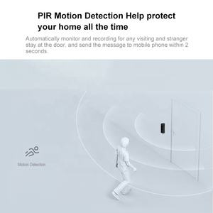 Smart Home Infrared Malam Visi Wide Angle PIR Motion Detection Ahd 1080P Visual Bel Pintu Jarak Jauh Nirkabel Bel Pintu