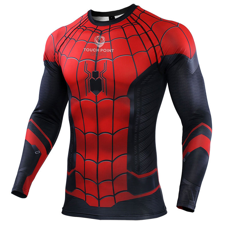 Rashguard Spiderman Compression Hemd Rashgard Sport Hemd Männer Basis Schicht Kreuz-fit Tops Gym Fitness T-shirt Lauf Shirt Männer