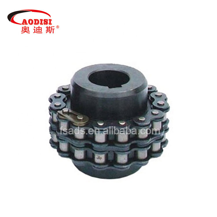 Low price C45 steel GL type roller chain coupling sprockets and 2 strand roller chain couplings