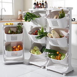 Multi-purpose Stackable PP Plastic Storage Baskets Bins for