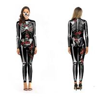 Halloween costume for sexy Skull Bones skeleton women costumes