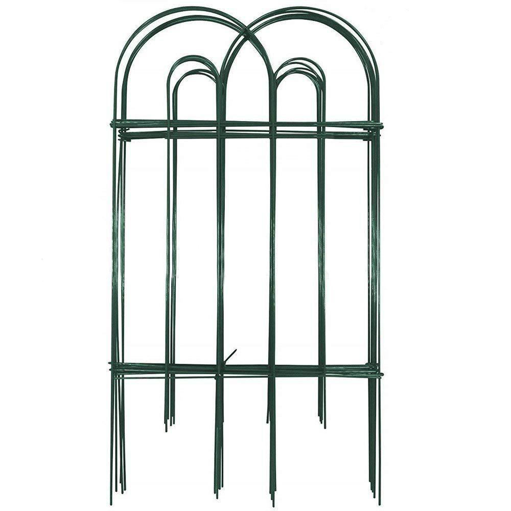 Rustproof Green Iron Landscape Wire Folding Fencing Decorative Garden Fence for Dog Outdoor Fences