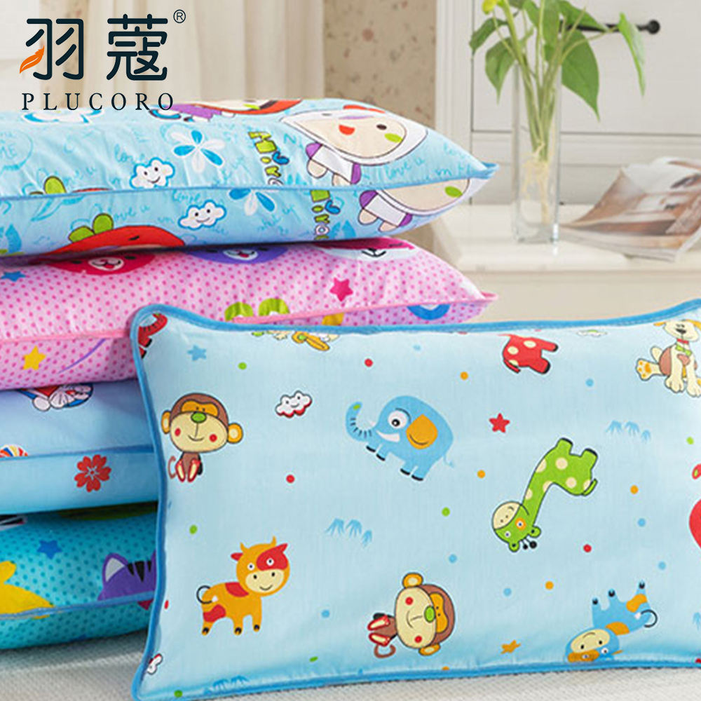 Cartoon Fabric Design Lovely Children Baby Neck Pillow Cotton Comfortable Pillow With Pillowcase