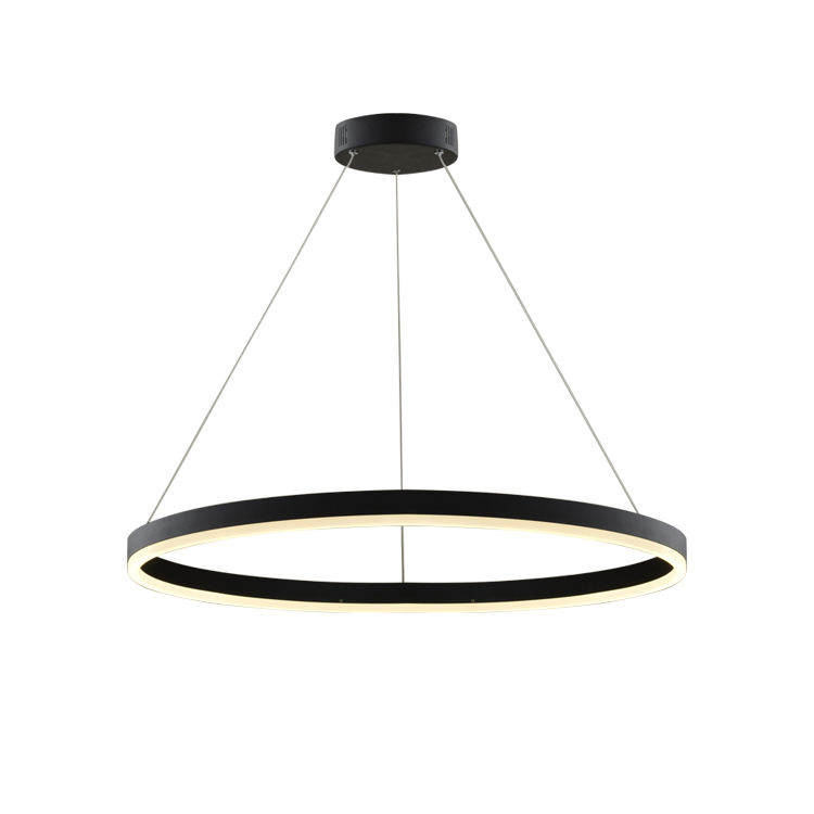 HUAYI Modern Decoration Aluminum Ring Hanging LED Pendant Lights acrylic large round circle 3 ring led pendant lamp
