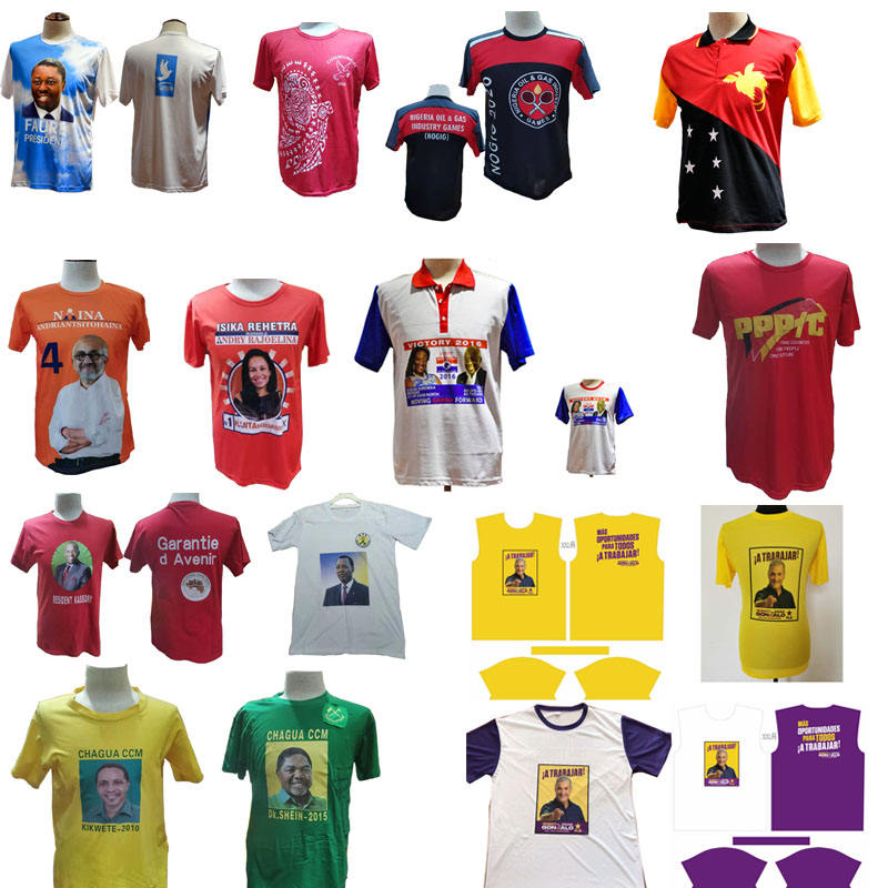 T-shirt Election Election And Promotion Dry Fit O-Neck T Shirt With Full Color Sublimation Printing Wholesale OEM ODM Made In China