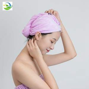 HairTowel Dry Hair Microfiber Quick Magic Drying WrapTurban Bath Shower Head Towel With Buttons