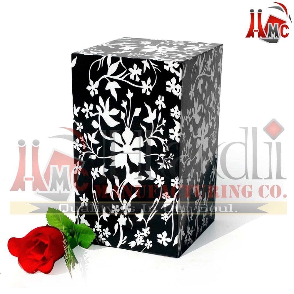Iron Casket Human Cremation Ashes Urn Box for Adult Memorials Funeral Ashes Urn By Hadi Manufacturing Co. Made in India