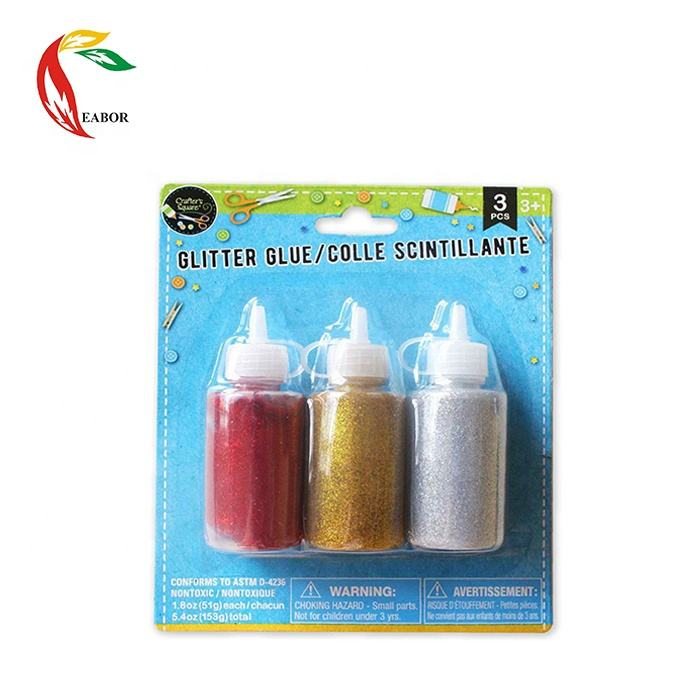 Art Supplies Kids 3PCS 51ml Diy Gift Glitter Glue Set