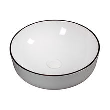 Factory direct selling Bathroom ceramincs round  the black line for wash hand sink