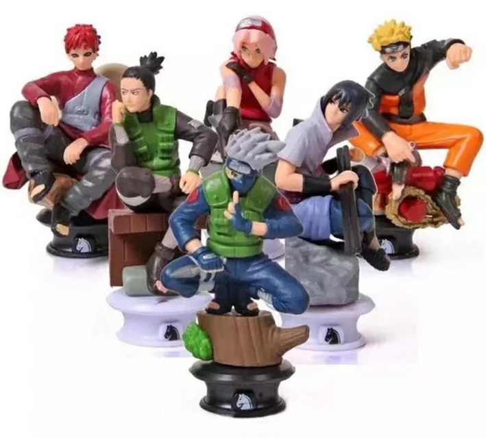 Sasuke Gaara Shikamaru Kakashi Naruto Anime Jouets <span class=keywords><strong>Collection</strong></span> (Lot de 6)