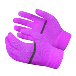 High Visibility Thermal Cheap Magic Knitted Gloves with Refl
