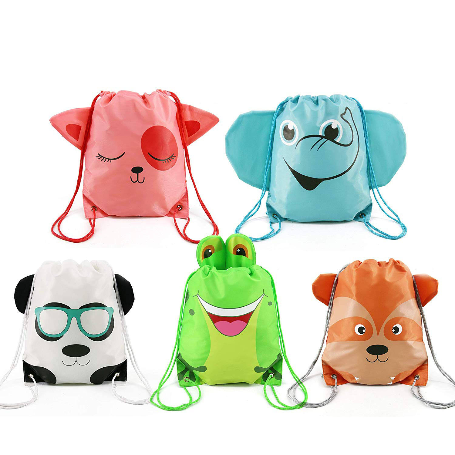 Child Animals Travel Storage Package Cartoon School Backpacks Children Drawstring bag