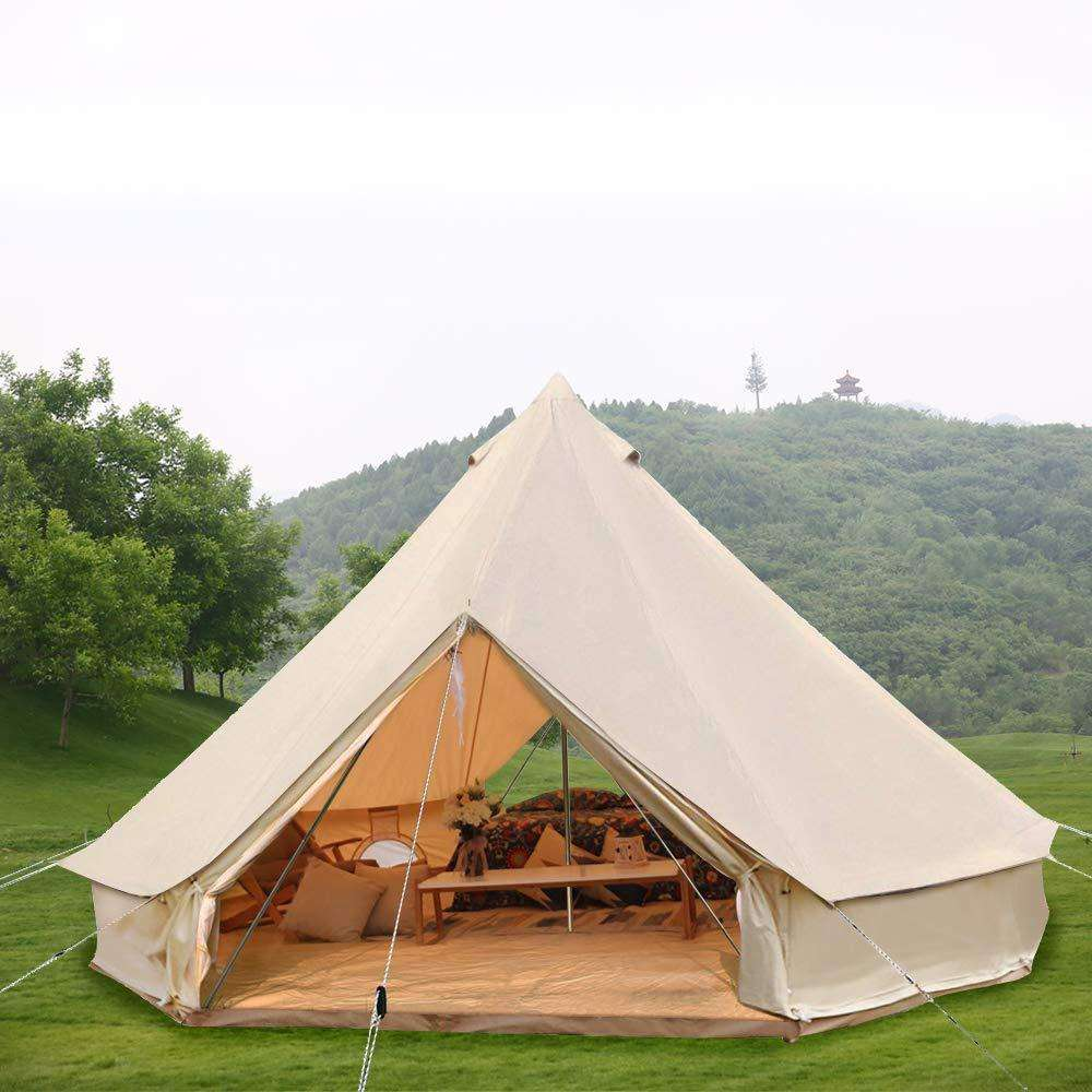 Waterproof Outdoor Camping Cotton Canvas 5m Teepee Yurt Glamping Tent Bell Tent