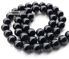 Natural Black Onyx Semi Precious Loose Gemstone Gem Stone 10mm Round Beads Strands For Jewelry Making Design Diy