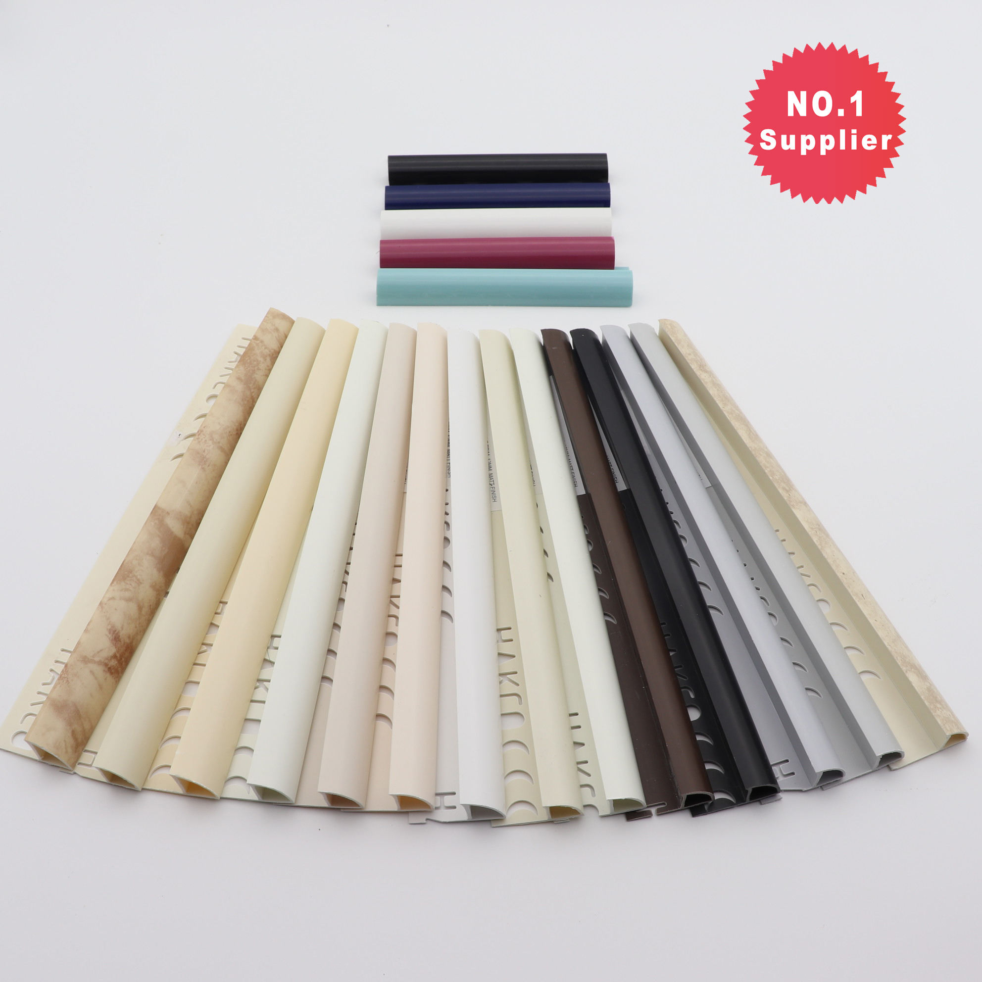 Yunte High Quality L Round Marble Dubai Rubber Edge Finishing Plastic Corners Strip 10mm PVC Curved Pencil Ceramic Tile Trim