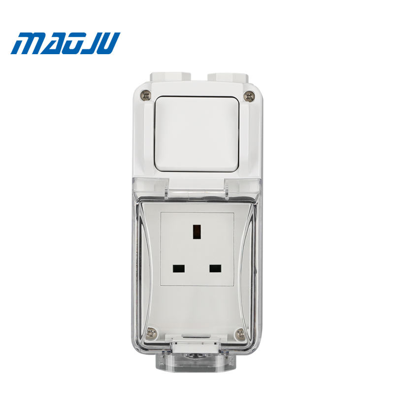 PVC Junction Box Waterproof PC Enclosure with Replaceable Socket Module Waterproof Enclosure