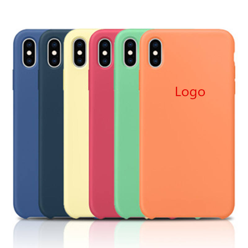 60 Colors Available Original Silicone Cover Phone Case for iPhone All Models, for iPhone X Case Silicone with Logo 7 8 XR XS Max