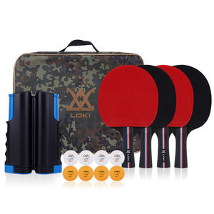 Hot Outdoor Portable 4 Star Table Tennis Racket Set Pingpong net set with pingpong ball For Dedicated