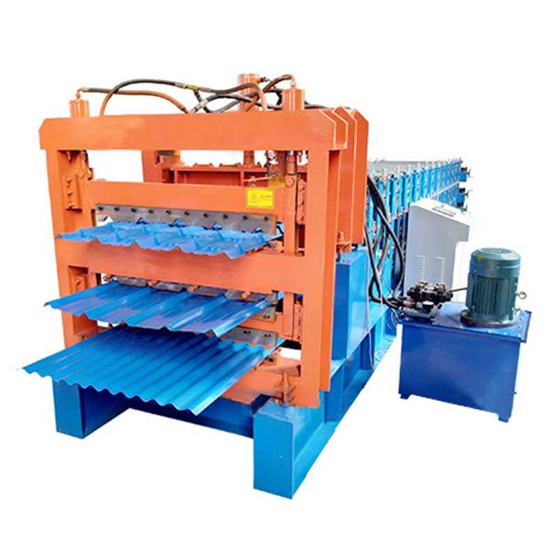 three-layer tile roofing sheet making machine/corrugated iron sheet making machine/maquina de calaminas